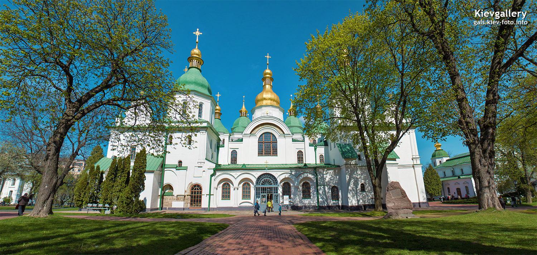 Софийский собор в Киеве. Общий вид главного фасада