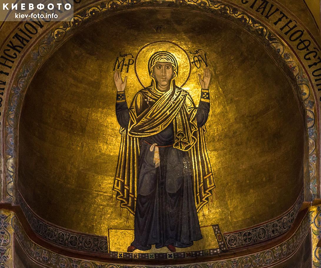 Оранта в Софийском соборе. Фото