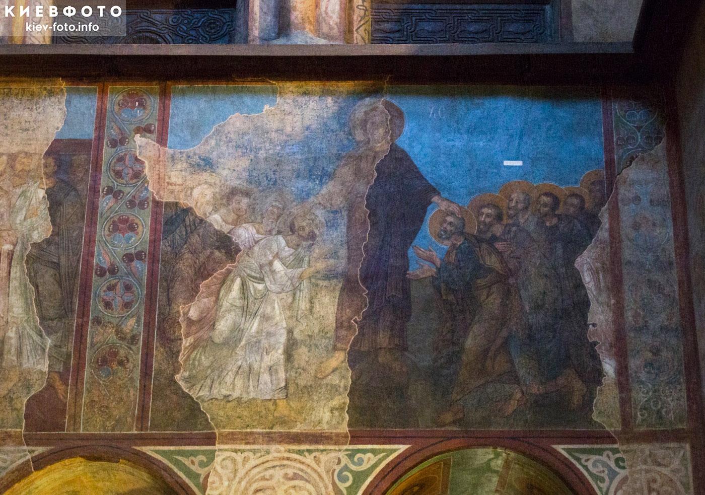 Софийский собор в Киеве. Фреска. Послание апостолов на проповедь