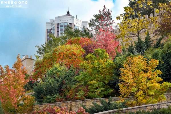 Невероятная палитра красок в осеннем парке Алиева