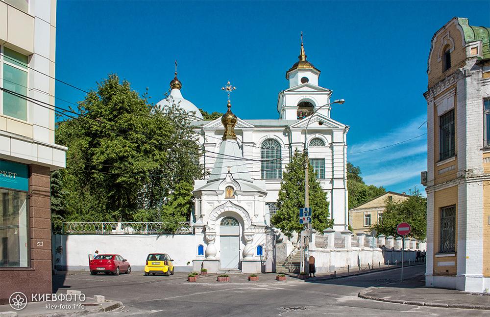 Крестовоздвиженская церковь на Подоле. Главный фасад